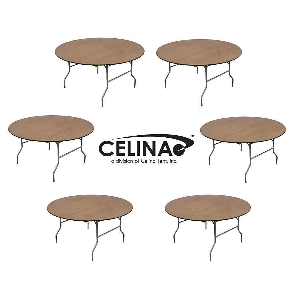 153cm (5ft) Round Wood Table RTRND60